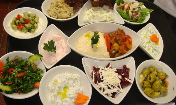 Menu image, SPECIAL  MEZE  MENU Vegetarian, Meat and Fish Mezedhes