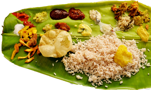 Menu image, Kerala (South Indian)